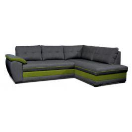 Rohová sedací souprava Aruba 2F+L (tmavě šedá + zelená) (P)