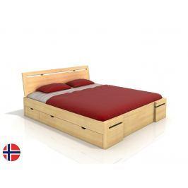 Manželská postel 200 cm Naturlig Bokeskogen High Drawers (borovice) (s roštem)