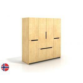 Šatní skříň Naturlig Larsos 4D5S (borovice)