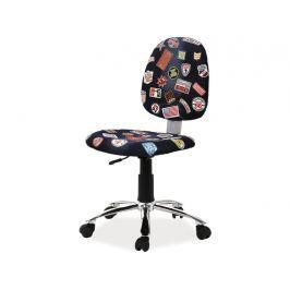 Dětská židle Zap (černá + vzor)