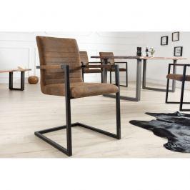 Výprodej Konferenční židle Meral hnědá-antik