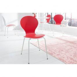 INV Jídelní židle Face červená-bílá