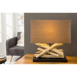 INV Stolní lampa Feel naplavené dřevo, světle hnědá