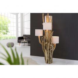 INV Stojací lampa Wood 150cm bílá, recyklované dřevo