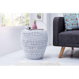 INV Odkládací stolek BULLET 50cm bílý