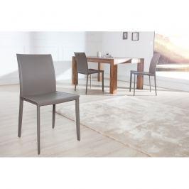 INV Židle Como šedá regenerovaná kůže