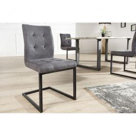 INV Konferenční židle Burges šedý kov