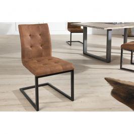 INV Konferenční židle Burges koňak kov