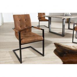 INV Konferenční židle Burges koňak, loketní opěrka