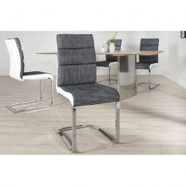 INV Konferenční židle Bodystra strukturovaná antracitová-bílá