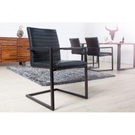 INV Konferenční židle Meral starožitná černá-černá