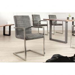 INV Konferenční židle Meral starožitná šedá