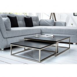 INV Konferenční stolek DESTIN Set 2ks černá