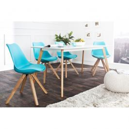 INV Židle LUTON tyrkysová (masivní podnož)