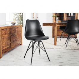 INV Židle LUTON černá-černá