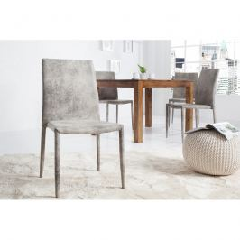 INV Jídelní židle Como šedá antik