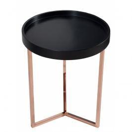 INV Odkládací stolek Linoa 40cm černá/měď