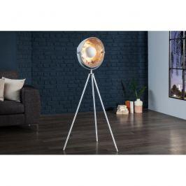 INV Stojací lampa Silueta 140 cm bílá-stříbrná