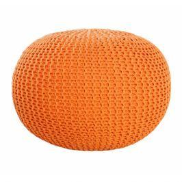 INV Puf Cly 50cm oranžový, ručně pletený