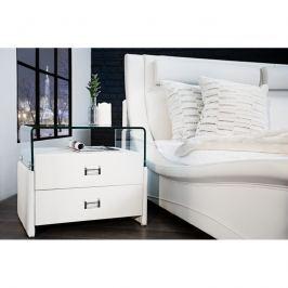 INV Noční stolek Bronx 50 cm bílá