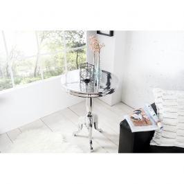 INV Odkládací stolek 75cm stříbrný,kruhový