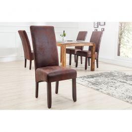 INV Jídelní židle Valery kávová vintage