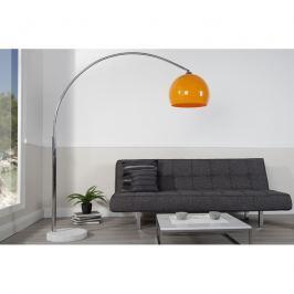 INV Stojací lampa Orbit II oranžová 175-205 cm