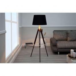 INV Stojací lampa Trigon 90-155 cm hnědá