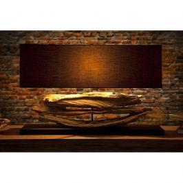 INV Stolní lampa  Riviera - černá, naplavené dříví