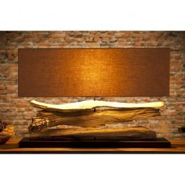 INV Stolní lampa Riviera -  béžová, naplavené dříví
