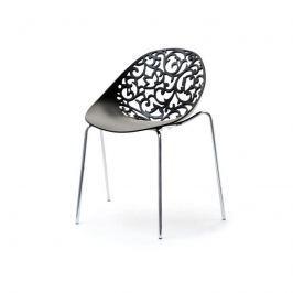 Pohádková židle ROSES Černá