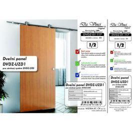 Otevřený závěs a dřevo - posuvné dveře Da Vinci, Italy DVDZ-01-117