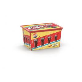 C Box Style Vintage Fast Food XL, 50l s kolečky KIS 008418RBFOO6