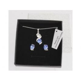 Souprava Dots Blue. Made with Swarovski crystals RS1754