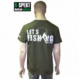 R-Spekt Tričko Let´s Fishing with R-Spekt khaki - | vel. L