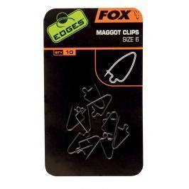 Fox Clip na červy Maggot Clips 10ks - vel. 8