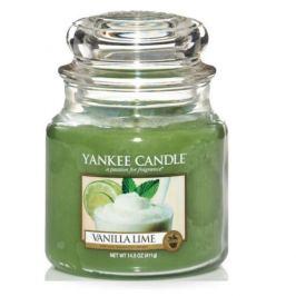 Yankee Candle Aromatická svíčka Classic střední Vanilka a limetka  411 g