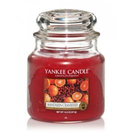 Yankee Candle Aromatická svíčka Classic střední Mandarinka a brusinka  411 g