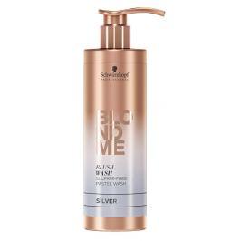 Schwarzkopf Professional Bezsulfátový tónovací šampon pro blond vlasy BLONDME Silver  250 ml