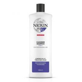 Nioxin Čisticí šampon pro řídnoucí normální až silné přírodní i chemicky ošetřené vlasy System 6  1000 ml