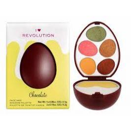 Makeup Revolution Paletka očních stínů a rozjasňovačů I Heart Revolution Easter Egg Chocolate  5 x 2,5 g + 2 x 4,2 g