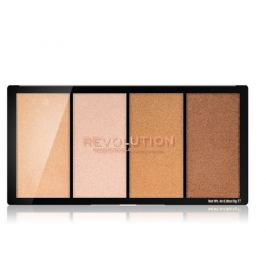 Makeup Revolution Paletka rozjasňovačů Revolution Re-Loaded (Highlighter Palette) odstín Lustre Lights Warm  4x5 g