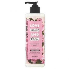 Love Beauty and Planet Tělové mléko s růžovým olejem a máslem muru muru  400 ml