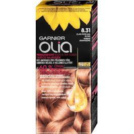 Garnier Permanentní olejová barva na vlasy bez amoniaku Olia 8.31 zlatě popelavá blond