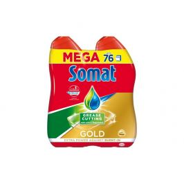 Somat Gold Antigrease gel do myčky, 76 dávek 2 x 684 ml