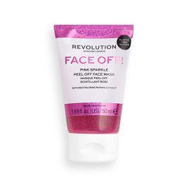 Revolution Slupovací pleťová maska Pink Glitter Face Off  50 ml
