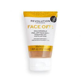 Revolution Slupovací pleťová maska Gold Glitter Face Off  50 ml