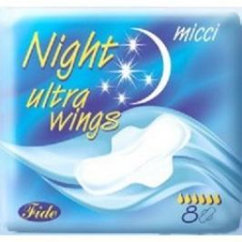 Micci Night Ultra vložky s křidélky 8 ks/bal.