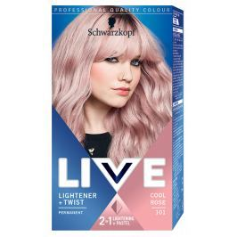 Schwarzkopf Live Lightener & Twist barva na vlasy Cool Rose 101 50 ml