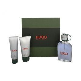 Hugo - toaletní voda s rozprašovačem 125 ml + balzám po holení 75 ml + sprchový gel 50 ml